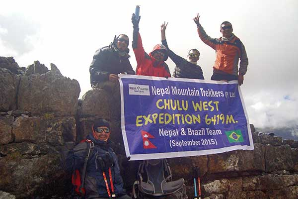 Chulu West-Peak-Bergsteigen