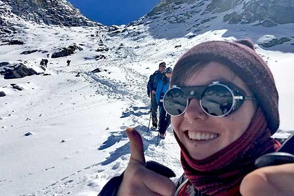 Two-pass peak climbing