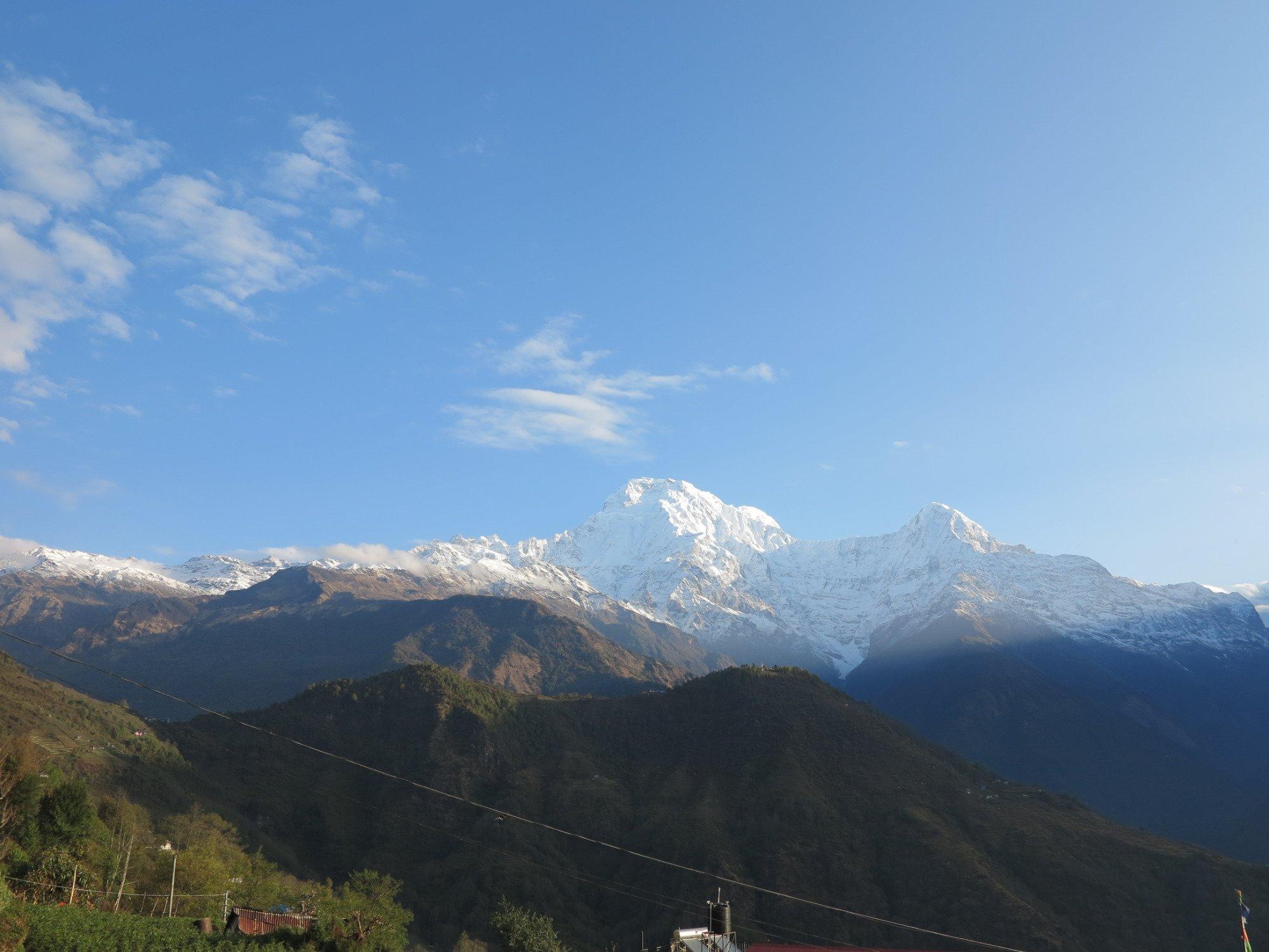 """""""Aussicht von Ghandruk auf den Annapurna South (7219m)"""""""