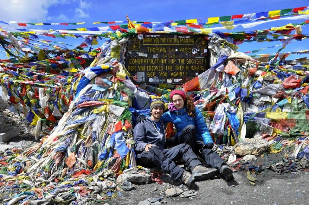 """""""Highest point of our trek - Thorong-La Pass 5416m"""""""