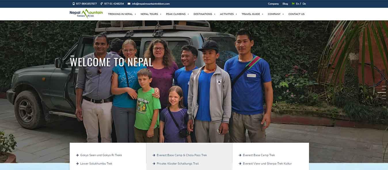 nepal mountain trekkers